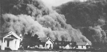 what caused the dust bowl dbq
