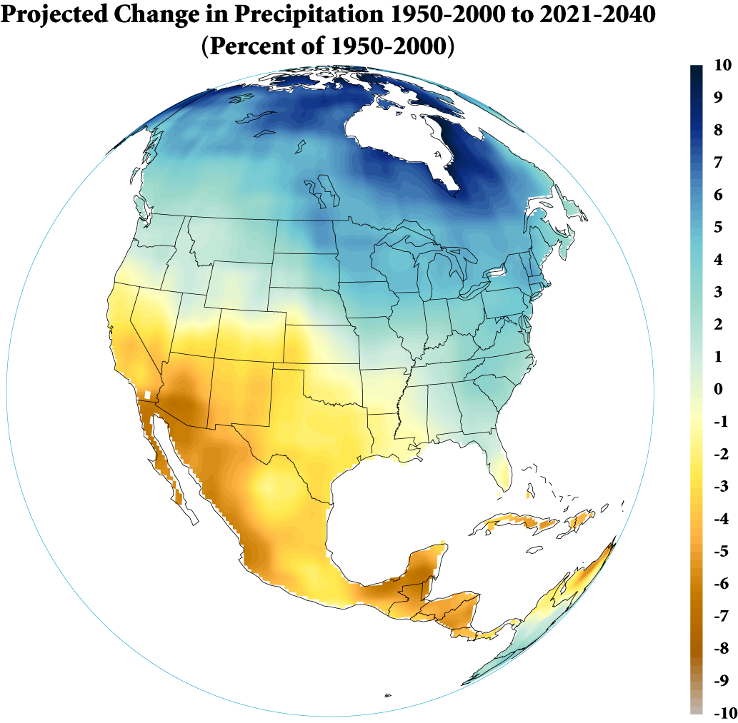 Transition To A More Arid Southwest - Map of north america climate